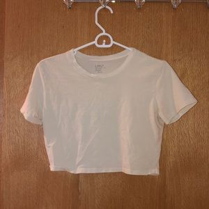 Light yellow cropped t!